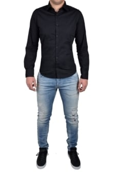 Black blouse men