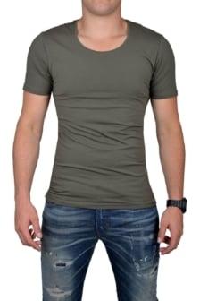 Groen t-shirt heren ronde hals