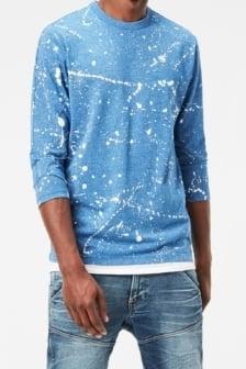 Splatter r t 3/4 slv 8594/nassau blue 016