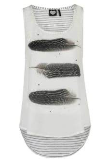 Sl feather stripe 203/ecru 016