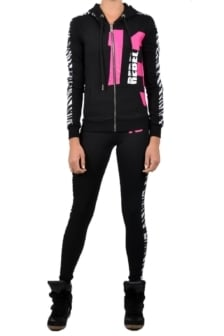 Sport zebra 13 zipper hoody black 016