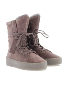 Bronx bronx w.pink/grey leather ankle boot