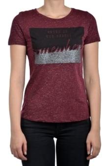 Geisha t-shirt burgundy