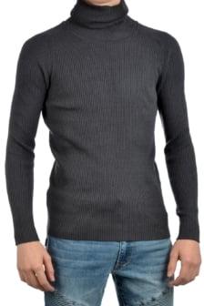 Sweater turtle neck london grey 016