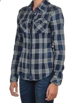 Dishe blouse blauw/grijs