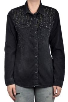 Dishe big size shirt black