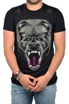 Gorilla roar t-shirt black