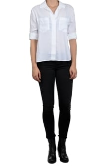 Bella dahl split back button down blouse wit