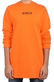 La sisters ls girls sweater dress orange