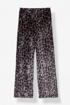 Alix woven animal velvet pants