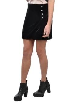 Radical skirt velvet black