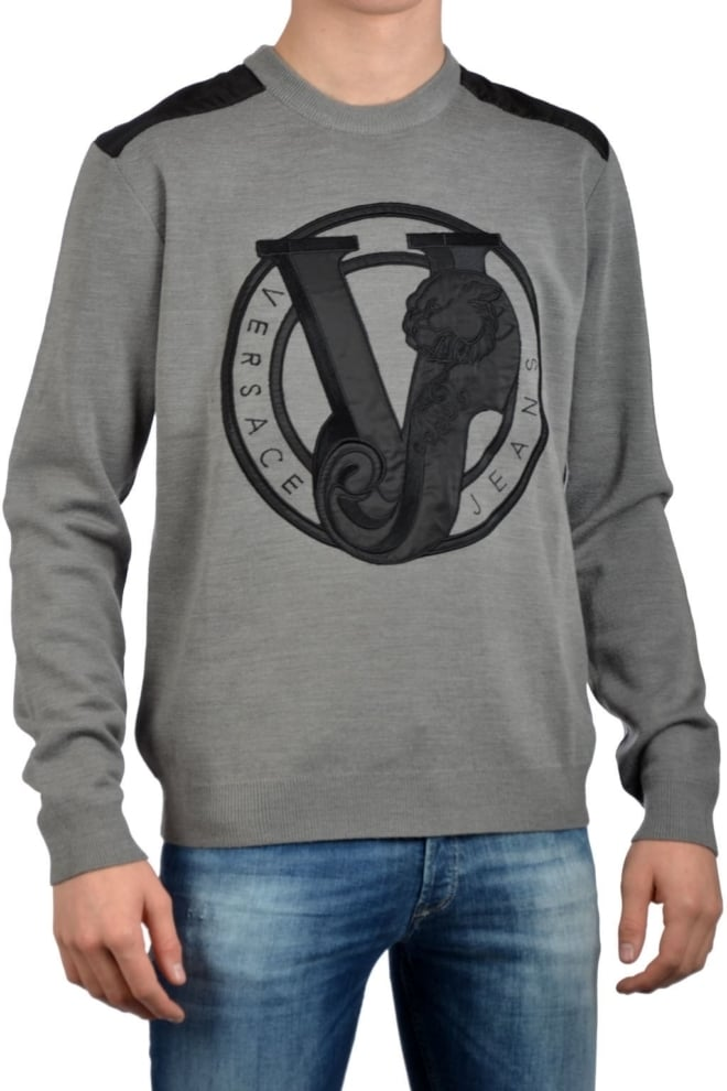 Versace jeans round sweater grey - Versace Jeans
