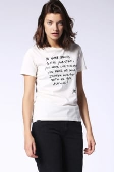 Diesel t-sily t-shirt off-white