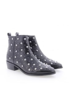Bronx black leather ankle boots