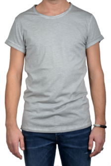 Tigha milo t-shirt vintage silver grey